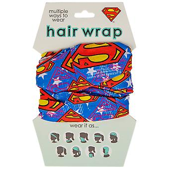 Superman Classic Symbol Face Mask and Hair Wrap