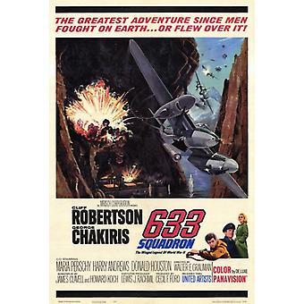 633 Squadron Movie Poster drucken (27 x 40)
