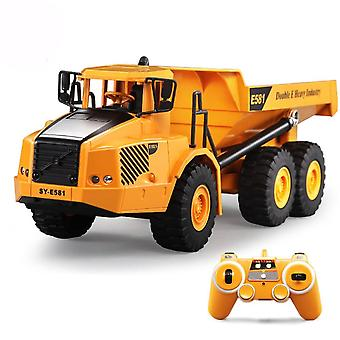 1:16 Remote Control Truck Dumper, Musical Led Caterpillar Construction Tractor
