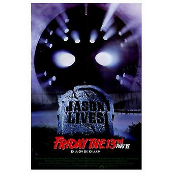 Friday the 13th Part 6 Jason Lives Movie Poster Print (27 x 40)