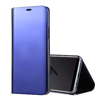 Voor Galaxy S9 PU Electroplating Mirror horizontale flip lederen behuizing met houder (paars)