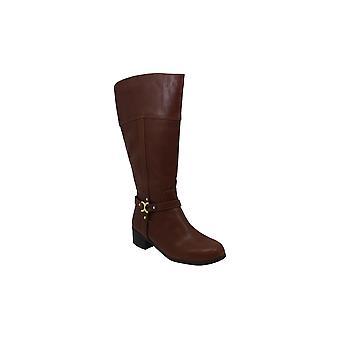 Charter Club CC35 Helenn 2 Knee High Riding Boots, Brown/Gray, 5.5 US