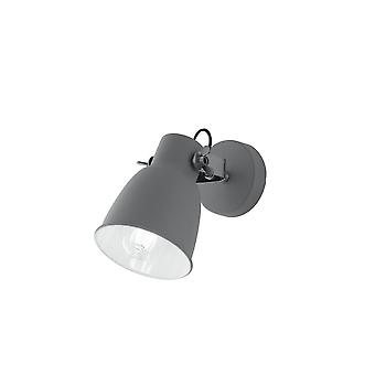 Fan Europe Legend - Luz de tarea de lectura de pared, gris, blanco, níquel, E27