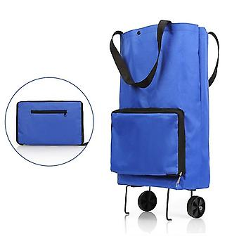Folding Tug Bag Shopping Cart, Portable Grocery Kitchen Accessories