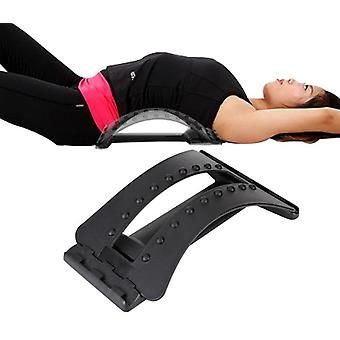 Back Massage Stretcher Relax Lumbar Support Spine Pain Relief Chiropractic