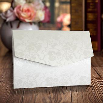 A6 Pocketfold Invitations Dandy White Broderie Pack of 10