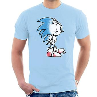 Sonic The Hedgehog Coloured Sketch Men's T-Shirt