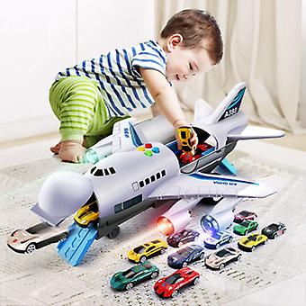 Toy Aircraft Music Story Simulation Traccia Inertia Children's Toy Aircraft Large Size Passenger Plane Kids Airliner Toy Car