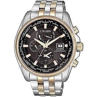 Citizen AT9038-53E Herren Eco-Drive A.T. Radio Controlled Two Tone Edelstahl Uhr