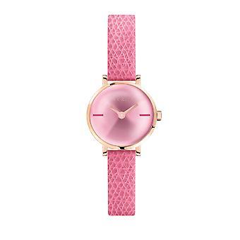 Furla Women'S Fuchsia Dial Calfskin Leather Watch