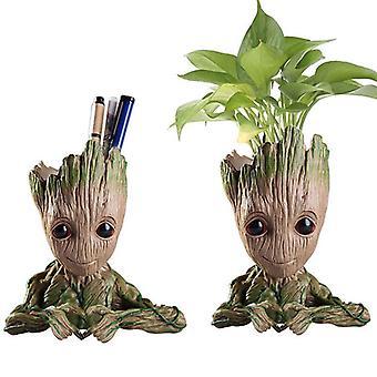 Strongwell Groot Flowerpot Planter Beeldjes Tree Man Cute Model Speelgoed Tuin