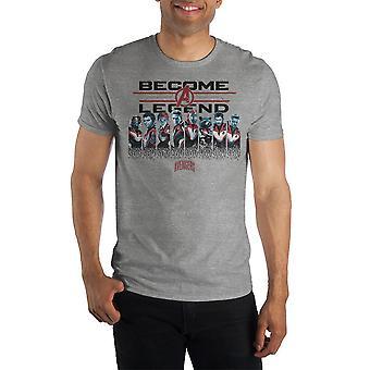Become a legend mens avengers shirt short sleeve avengers t shirt