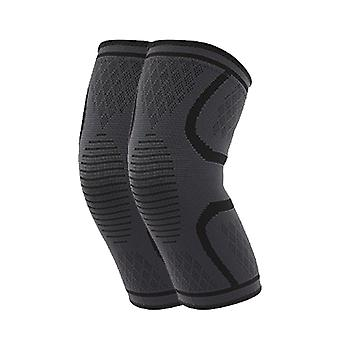 L Tamaño Negro Longitud 27cm Nylon Latex Spandex Profesional Sports Grade Rodilleras