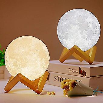 3d Print Moon Lamp - Rechargeable Touch Desk Usb Switch