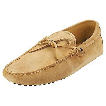 TOD'S Gommino Mens Loafer Shoes in Beige