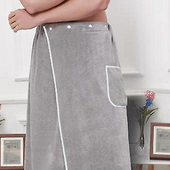 Microfiber Culottes Bathrobe With Towel Short Pants, Soft Side Split Robe Home