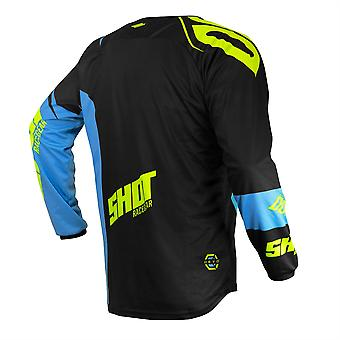 2020 Shot Devo MX Jersey Kids - Ventury Blue Neon Yellow