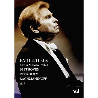Emil Gilels - Beethoven/Prokofiev/Rachmaninoff 1978 Vol. 3 [DVD] USA import