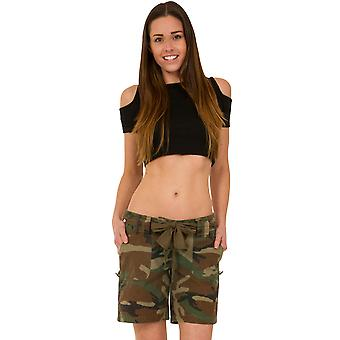 Army Style Camouflage Shorts - Green & Brown