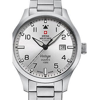 Reloj masculino militar suizo por Chrono SM34078.02, cuarzo, 43 mm, 10ATM