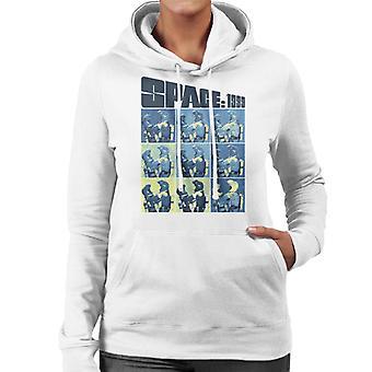 Space 1999 Helena Russell och John Koenig in Space Suits Women's Hooded Sweatshirt
