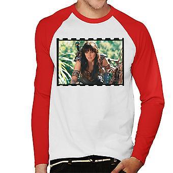 Xena Warrior Princess Spying Men's Baseball Long Sleeved T-Shirt