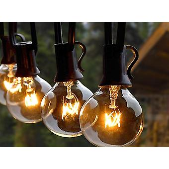 String Lights With Globe Clear & Spare Bulbs