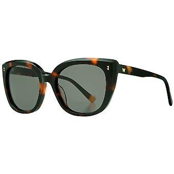 Whistles Premium Modern Cat Eye Sunglasses - Tortoise Shell
