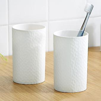 300ml Plastic Japanese-style Thick Circular Cups Toothbrush Holder
