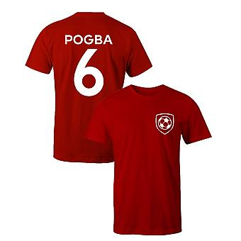 Paul Pogba 6 Club Style Player Football T-Shirt