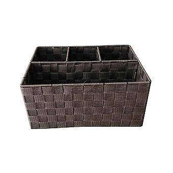 Fabric And Metal Section Organiser Box Basket