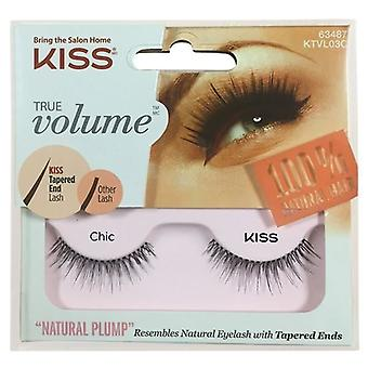Kiss True Volume Tapered End False Lashes - Chic - Lash Adhesive Included