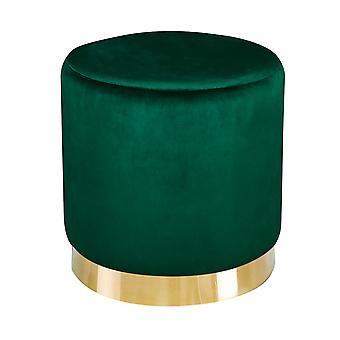 Lourd Pouffe Est Green Velvet (Pack Of 1)