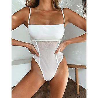 Mesh Patchwork Sexy One-piece Swimsuit