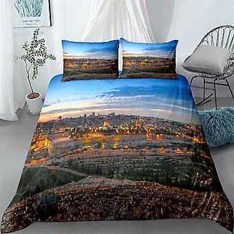 Dubai City Digital Duvet Cover Set - Single, Twin, Double, Queen, King Size Bed