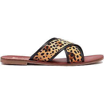 Joules mujeres Maywell Slip en sandalias deslizantes de cuero