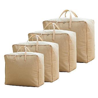 Polyester portable quilt storage bag, Quilt finishing bag Solid color durable 4pcs