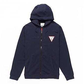 Guess Brooks Navy Zip Up Sweat-shirt à capuche M1RQ48K6ZS1