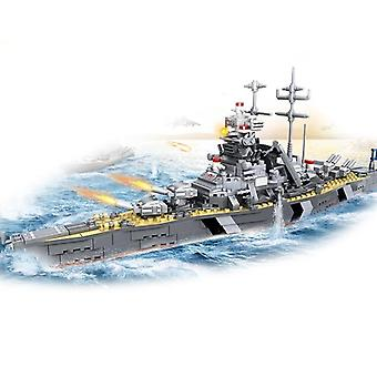 1000+ Pcs Military Warship Navy Aircraft Army Figures Building Blocks Toy