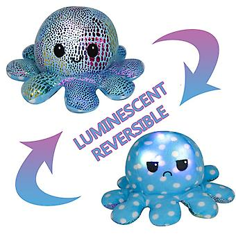 Reversible Octopus Doll That Can Shine Children's Gift Plush Toys