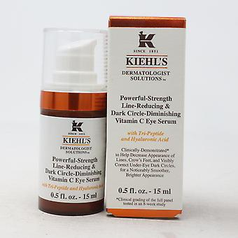 Kiehl's Powerful-Strength Dark Circle-Diminishing Vitamin C Eye Serum 0.5oz  New