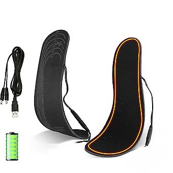 Usb Electric Heated, Rechargeable Shoes For Winter Warmer, Foot Heating Pads