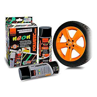 Flytande gummi för bilar Foliatec Orange 400 ml (2 st)