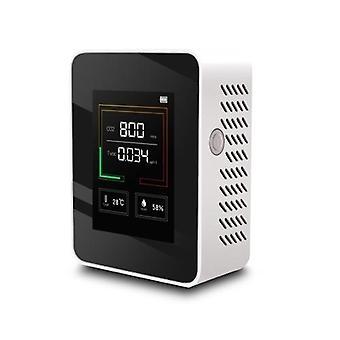 Oferta más barata K03 Detector de calidad del aire doméstico Multifuncional C02 Temperatura Humedad Probador Pantalla LCD con retroiluminación agrícola, verduras de invernadero, almacén de producción, procesamiento de materiales, interior del hogar, etc.