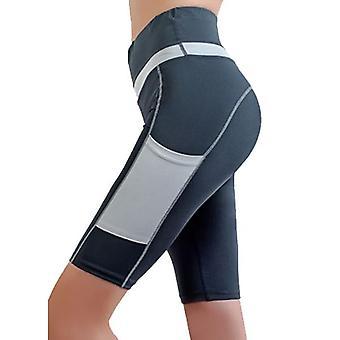 Ženy Fitness cvičenie Biker šortky s vreckom