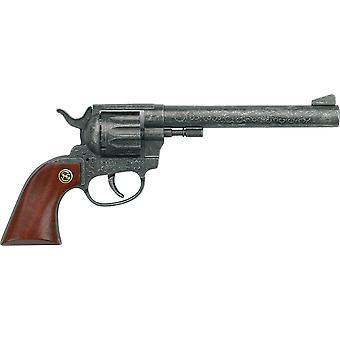 HanFei 2050102 Buntline mit Holzgriff: Spielzeugpistole fr Zndplttchen, Robuste Qualitt aus Zink,
