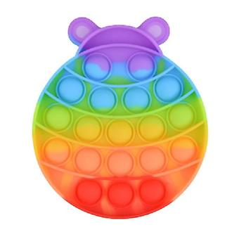 スタッフ認定®ポップそれ - そわそわアンチストレスおもちゃの泡おもちゃのシリコーン昆虫レインボー