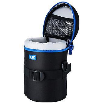 Deluxe Objektiv Tasche mit 1 x Umhängeband, Wasserabweisend, Schwarz, passt Objektiv Durchmesser und