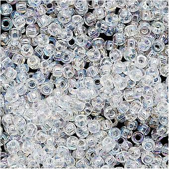 توهو جولة البذور الخرز 11/0 #161 'شفافة قوس قزح كريستال' 8 غرام أنبوب
