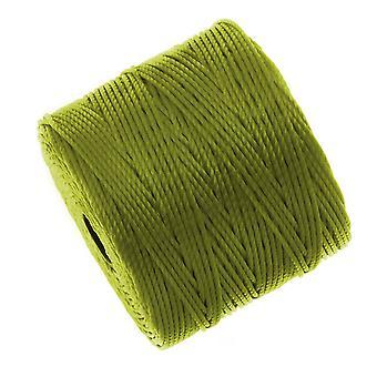سوبر لون (S- لون) الحبل -- حجم #18 النايلون الملتوية -- Chartreuse (77 ياردة بكرة)